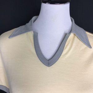 Smartwool Tops - Smartwool Yellow Short Sleeve Grey Collar Top